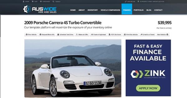 car sales finance sidebar banner