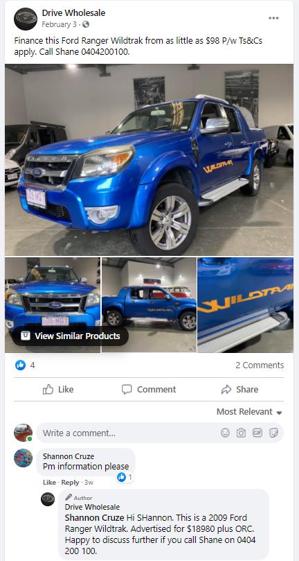 facebook automitive car sales leads