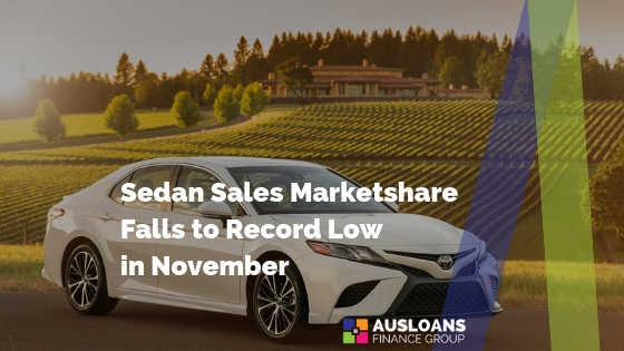 Sedan Sales Marketshare Falls to Record Low in November